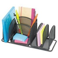Safco Products  3251BL Onyx Mesh Deluxe Desktop Organizer (Qty. 1), Black