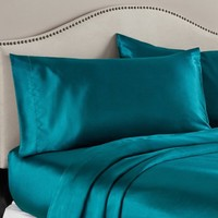 Mainstays Satin Sheet Set - Walmart.com