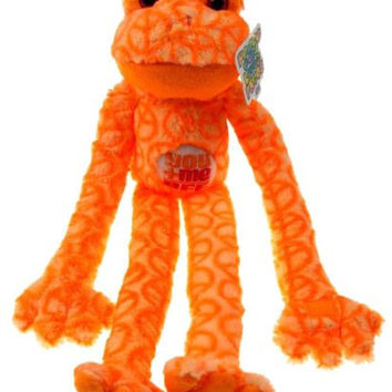 Peace and Love Frogs You + Me = BFF Orange Soft Hanging Plush Embroidered