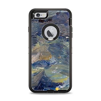 The Blue & Yellow Abstract Oil Painting Apple iPhone 6 Plus Otterbox Defender Case Skin Set