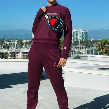 Wine Red CHAMPION Two Pieces Sportswear