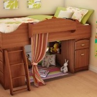 South Shore Loft Bed Imagine Collection, Morgan cherry: Home & Kitchen