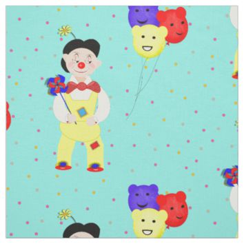 Fun Colorful Balloons Circus Clown Polka Dot Fabric