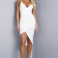 Maren Wrap Dress -white