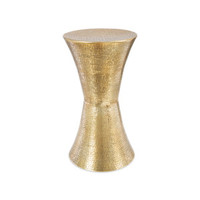 Aluminium Concave Stool – Cluster Hammered - Marc's Home & Giftware