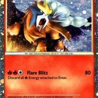 Pokemon HeartGold & SoulSilver Entei HGSS20 Promo Card