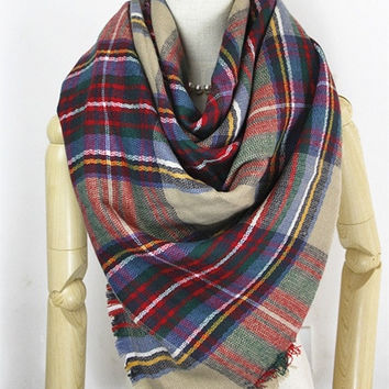 Fashion new warm women Cashmere large Square scarf scarves, shawls autumn/winter = 1958313220