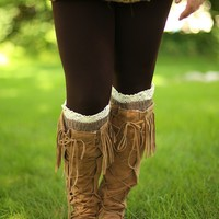 All in the Details Short Leg Warmers in Brown