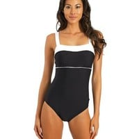 Nautica Signature Retro One Piece Swimsuit