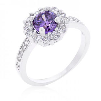 Lavender Halo Engagement Ring (size: 06) (pack of 1 ea)