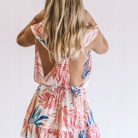 With Every Breath Palm Print Dress