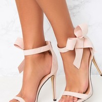 Blush Bow Detail Strappy Heels