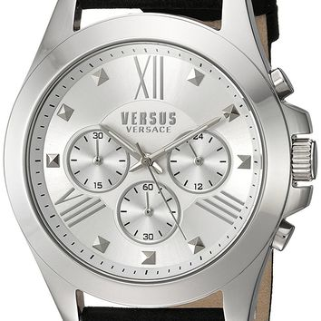 Versus by Versace Men's SBH020015 Chrono Lion Analog Display Quartz Black Watch
