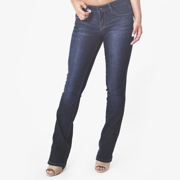 Signature Whisker Wash Bootcut Jeans