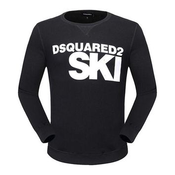 ONETOW Trendsetter Dsquared2 Women Man Fashion Print Sport Casual Top Sweater Pullover