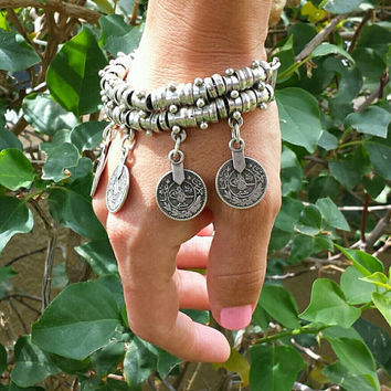 Hot! Owl antique silver bracelets and anklets 2016
