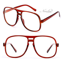 """Steve Urkel"" Inspired Oversize Clear Lens Key Hole Glasses Nerdy Geek"