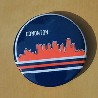 Edmonton City Skyline Button