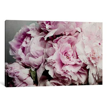 iCanvas 'Peonies Galore II' by Elizabeth Urquhart Canvas Print | Overstock.com Shopping - The Best Deals on Gallery Wrapped Canvas
