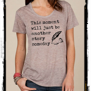 Wallflower Writer Quote slouchy t shirt Alternative Apparel KIMBER tee tshirt vintage style screenprint ladies scoop top