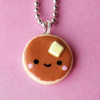 Kawaii Pancake Necklace by BabyLovesPink on Etsy