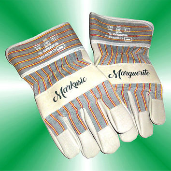 Personalized Gift, Work Gloves, Garden Gloves.