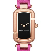 MARC JACOBS The Jacobs Metallic Leather Strap Watch, 20mm | Nordstrom