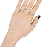 Division Ring Set - Antiqued Silver