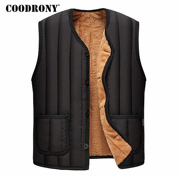 Jackets Men New Arrivals Winter Thick Warm Men's Down Jackets Casual Sleeveless Vest Coat Men With Wool Liner