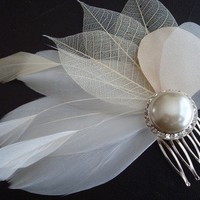 Champagne Toast Ivory and Champagne Feather Pearl by PrimandPosies