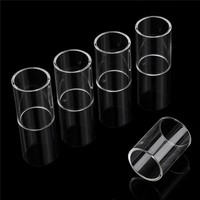 5Pcs Replacement Glass Tube Atomizer Tank Cap For SMOK Clear Glass Tube Cap For Nano TFV4 SMOK Stick One Basic Kit Transparent