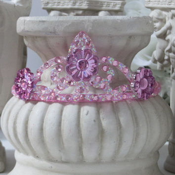 Princess Headband - Flower Girl Hair Accessories - Princess Costume - Rhinestone Crown - Princess Party - Party Hair Accessories - Gifts