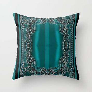 LACE OCEAN Throw Pillow by violajohnsonriley