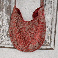 Bohemian Gypsy Purse Bag Hippie Gothic Silk by ZojjaUniquelyYou