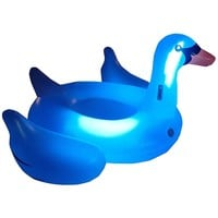 Swimline Giant LED Light-Up Swan Inflatable Float