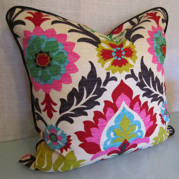 Decorative Pillow Covers in Santa Maria Desert Flower Fabric by Waverly