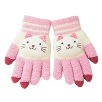 One Size Lovely Winter Knit Magic Smartphone Touch Screen Gloves (Pink)