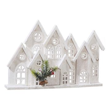 Cluster of Houses Lighted Holiday Figure -- 11-in