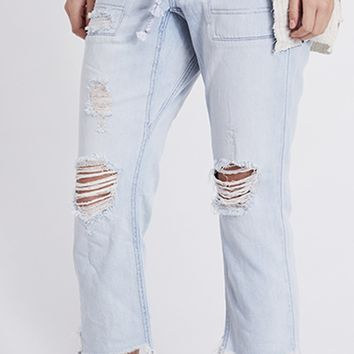 Northern Sky Pull On Crop Pant - Blue by Free People