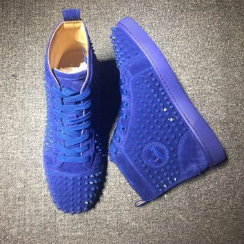 Cl Christian Louboutin Louis Spikes Mid Style #1814 Sneakers Fashion Shoes - Best Deal Online