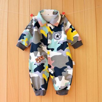 Spring Autumn baby romper long sleeve baby girl boy newborn clothing cartoon toddler clothes lovely baby pijama macacao bebe