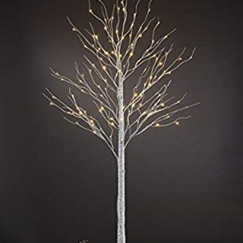 Lightshare 8FT 132L LED Birch Tree,Warm White