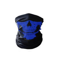Skull Bandana Mask Tube Scarf Skeleton Motorcycle Headband Ski Face Neck Jaw