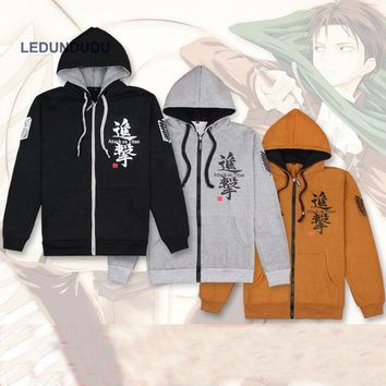 Cool Attack on Titan Hot Anime  Eren Scouting Legion Printed Coat no  Unisex Winter Jackets 3 colors AT_90_11