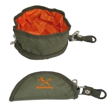 Collapsible Portable Travel Camping Pet Dog Bowls With Hook Water Dispenser