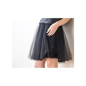 Tulle Mini Skirt - Black