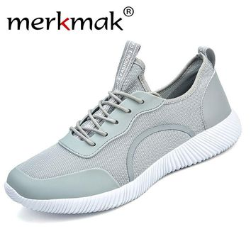 Merkmak Casual Breathable Men Flats Shoes Fashion Unisex Summer Soft Footwear Aneakers Male Leisure Lace Up Shoes Drop Shipping