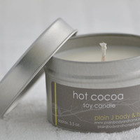 Hot Cocoa Soy Candle Tin 4 oz. - rich chocolate hot cocoa soy candle