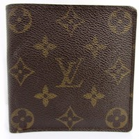 Authentic Louis Vuitton Monogram Portefeuille Marco M61675 PVC Leather 47024