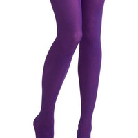 Tights for Every Occasion in Violet | Mod Retro Vintage Tights | ModCloth.com
